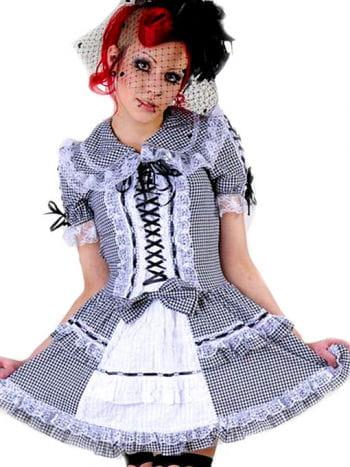 Minikleid schwarz-weiß kariert Gr. L