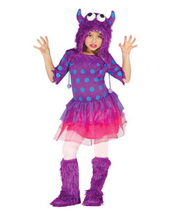 Lila Monster Mädchenkostüm
