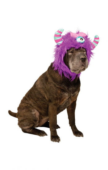 Lila Monster Hunde Mütze