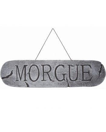 Morgue Deko Schild