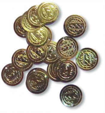 Münzen zum annähen 18 mm 20St.
