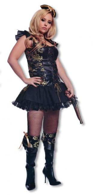 Piratenlady Kostüm mit Hut XL