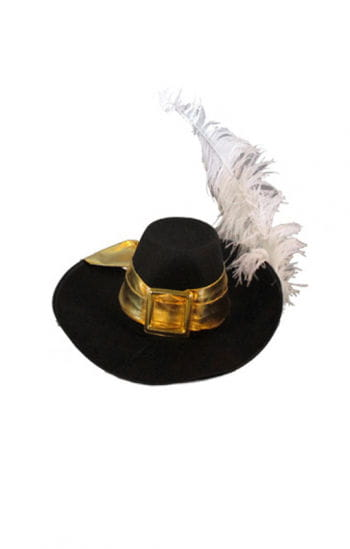 Musketeer hat with white feather