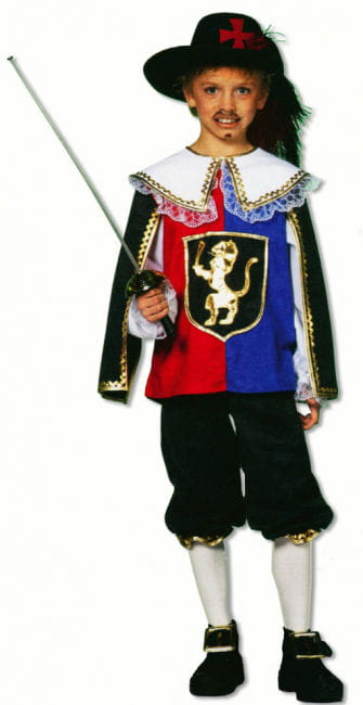 Musketeer Child Costume Deluxe S