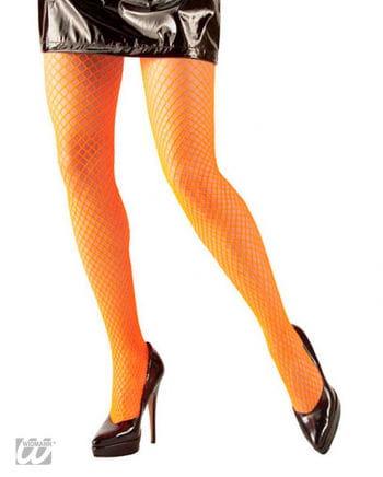 Netzstrumpfhose Neon Orange