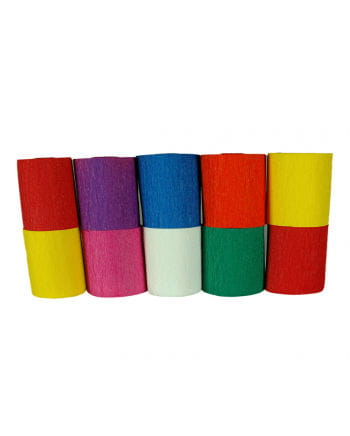 Niflamo Decorative Crepe Paper Multicoloured