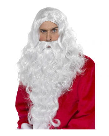 Weihnachtsmann Perücke & Bart