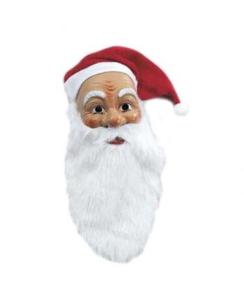 Nicholas mask with plush beard and hat