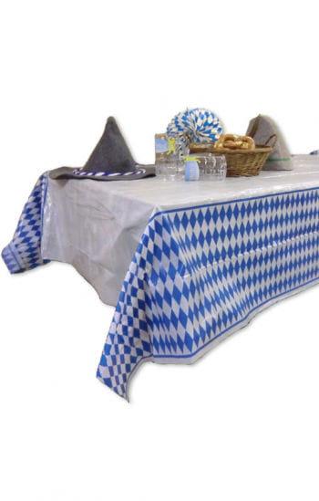 Weiß Blaue Oktoberfest Tischdecke