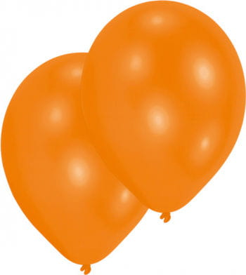Orange Premium Luftballons 50 St