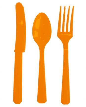 Kunststoffbesteck orange