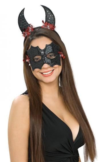Pailetten Fledermaus Augenmaske