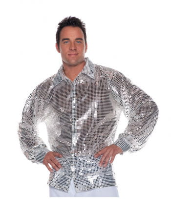 Sequined shirt silver