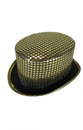 Sequins cylinder gold / black