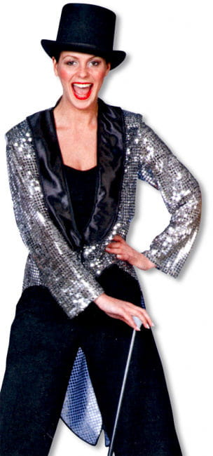 Sequin evening dress silver