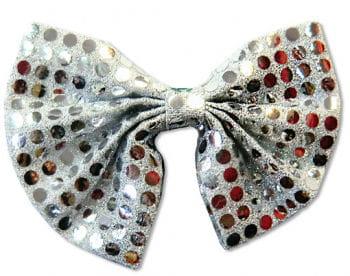 Pailletten Fliege silber