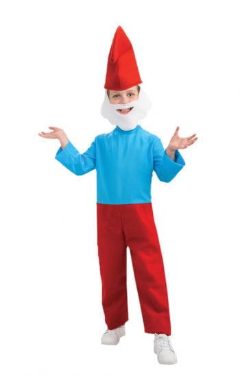 Original Papa Schlumpf Kostüm für Kinder