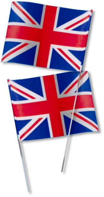 Paper Flag Great Britain 50 PCS