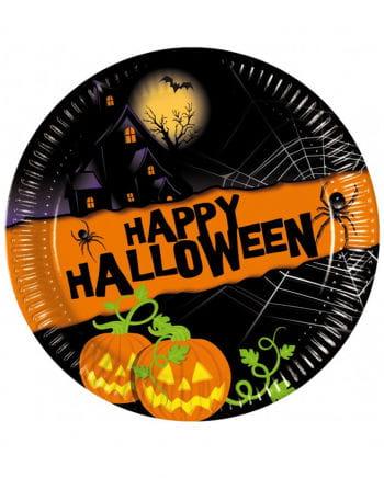 Pappteller Happy Halloween