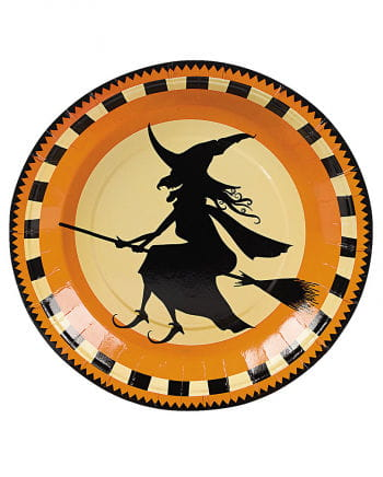 Paper plates flying witch