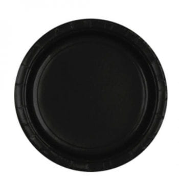Paper plate black
