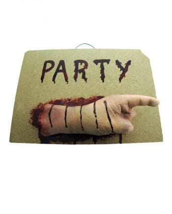 Party sign Zombie Hand