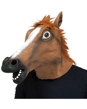 Pferde Maske Braun