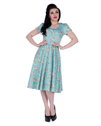 Pin-Up Flowers Dress turquoise