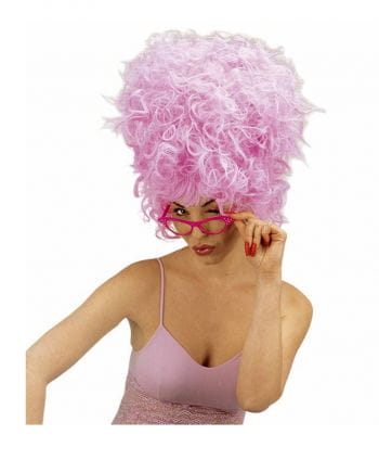 Brille 50er Retro Look pink