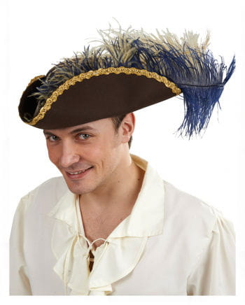 Pirate tricorn with feather headdress