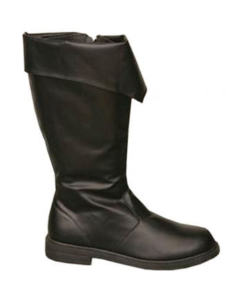 Pirate Boots with Cuffs Black
