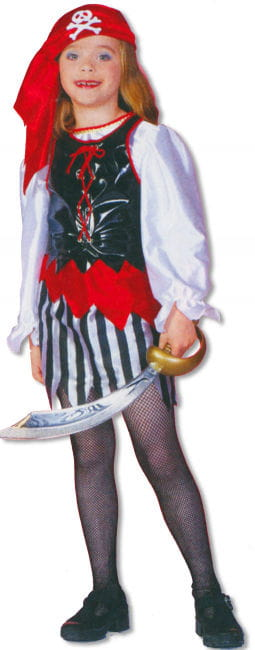 Pirate Girl Child Costume S German child size 116