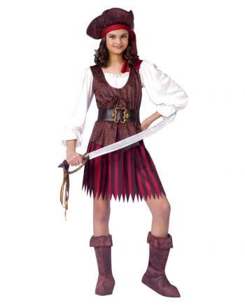 Piratin Kinder Kostüm L
