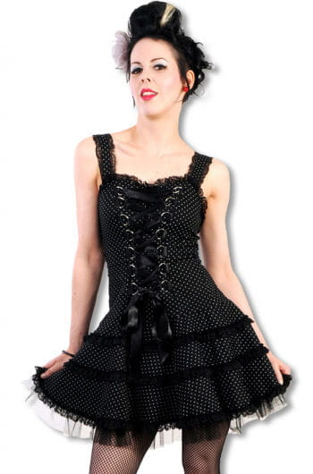 Polka Dots Tüll Kleid schwarz