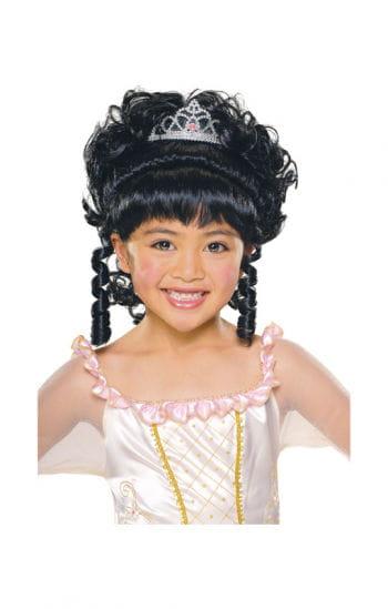 Prinzessinen Mädchenperücke schwarz