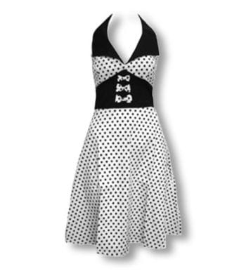 Dot dress white black S / 36