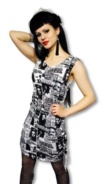 Punk Kleid im Zeitunsdesign