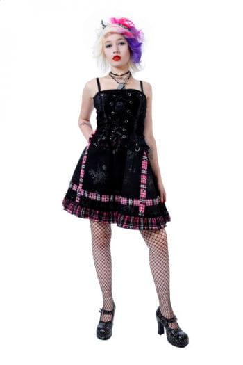 Punk Minikleid Pink Xtra Large