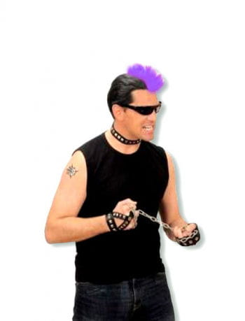 Punk purple hairpiece
