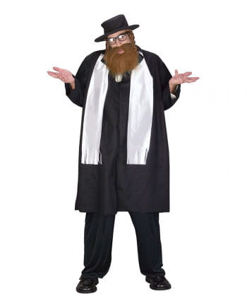 Rabbiner Kostüm mit Bart Plus Size