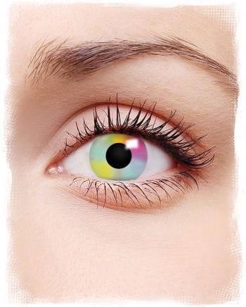 Kontaktlinsen in Regenbogenfarben