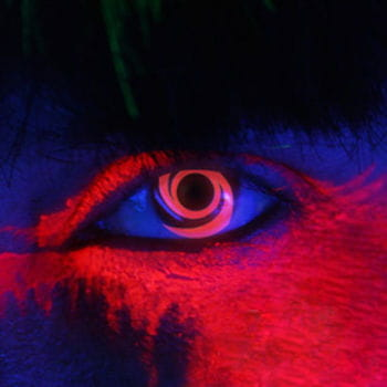 Red Spiral UV Contact Lenses