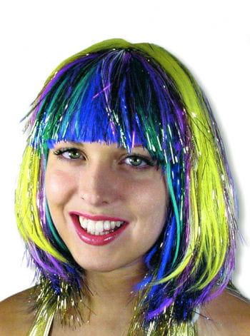 Perücke in Regenbogenfarben