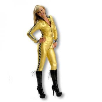 Rennfahrerin Kostüm gold M