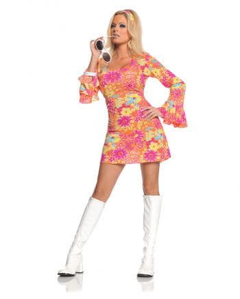 Hippie Mini Kleid Geblümt Small