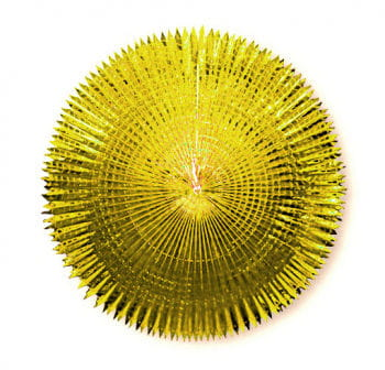 Faltfächer Metallfolie Gold 120 cm