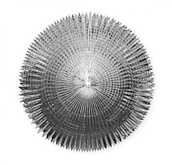 Faltfächer Metallfolie Silber 120 cm