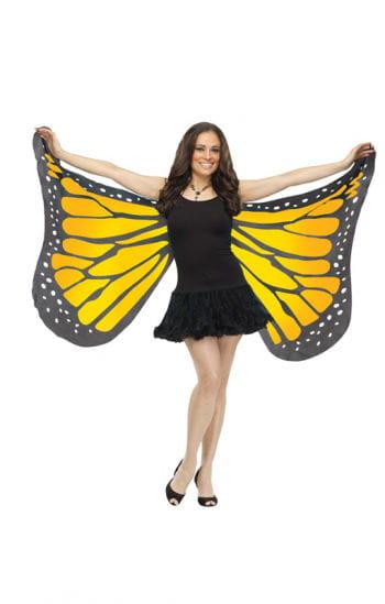 Huge butterfly wings yellow