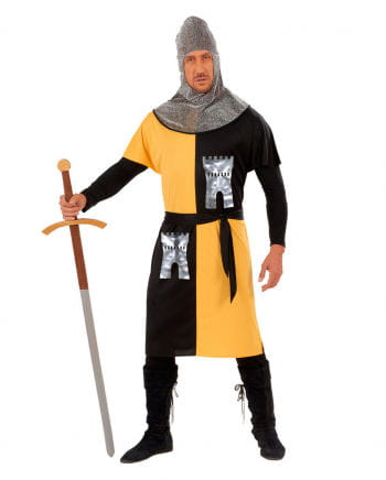 Ritterkostüm gelb/schwarz Gr. L