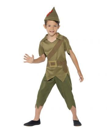 Robin Hood Kinderkostüm mit Hut